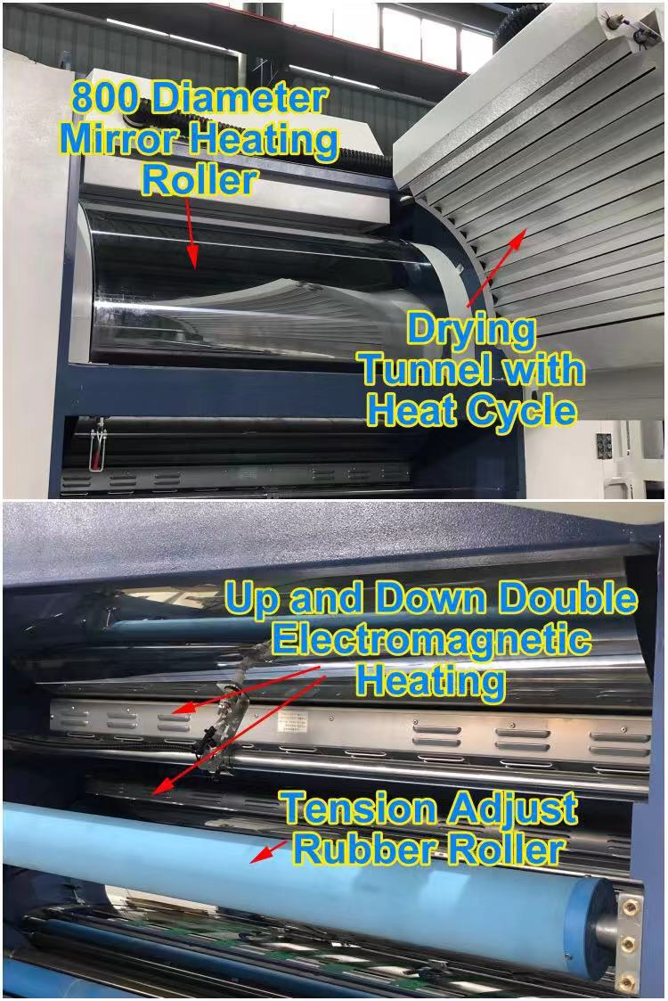 Fully automatic solvent based lamination machine, for film lamination with paper