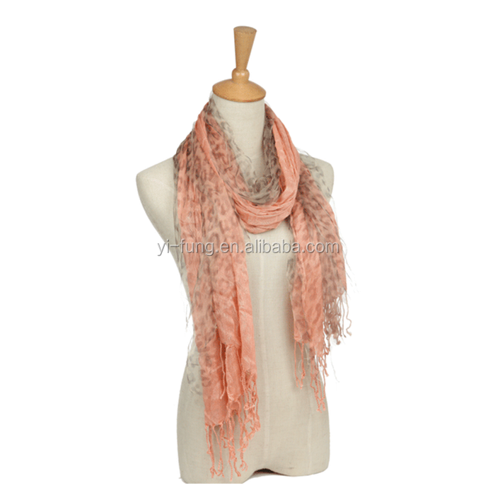 Professional made in china acrylic reverse knitted scarf