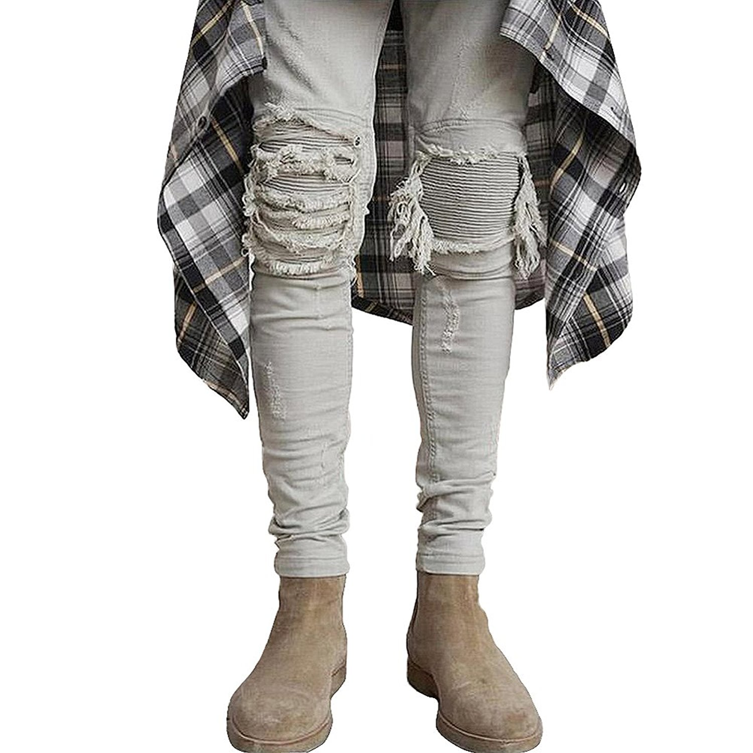 1944864e74 Buy Skinny Ripped Jeans for Men Distressed Biker kanye west hba ...