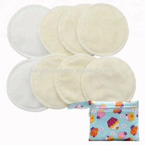 Contoured Plain Reusable Breastfeeding Pads Organic Bamboo Washable Colorful Nursing Pads