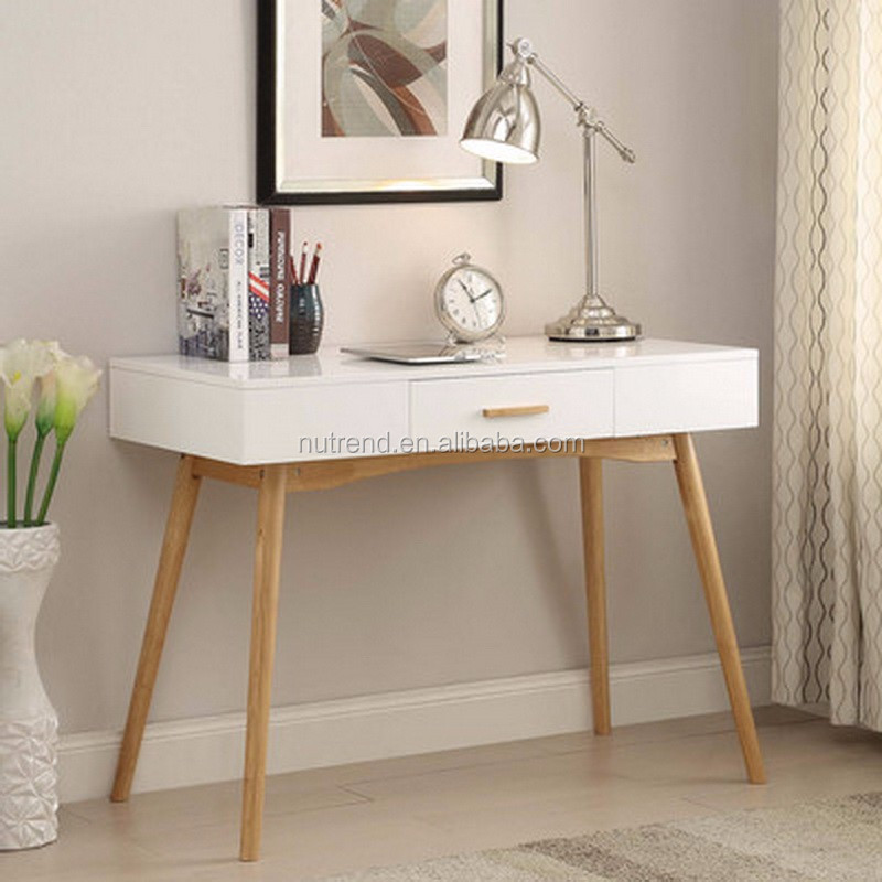 Modern Wooden Study Table Designs For Students With Drawer