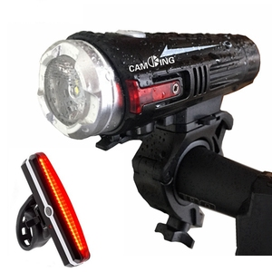 USB Rechargeable Bicycle Light Set,High Power LED Bike Front Light and Red Back Tail Light
