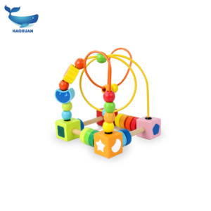 2018Wholesale classical toy educational wooden beads maze game for kids