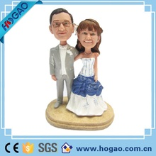 Resin wedding couple bobble head as gifts or decoration