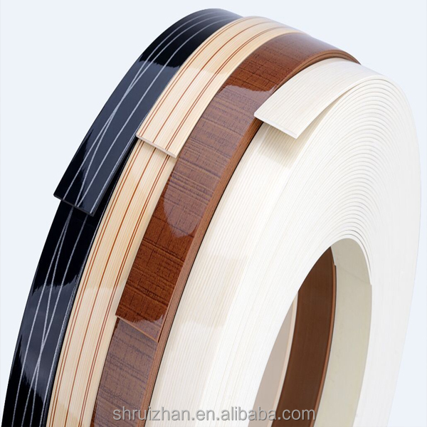 Popular Style Wood Grain Color PVC Edge Banding for Office Furniture