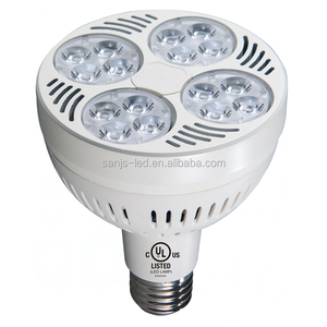 2018 ul par30 35W led spotlight dimmable e27 par30 indoor bulb spotlight 8000K jewelry rotating led