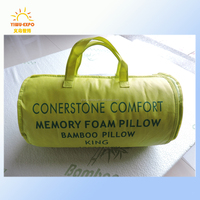 Custom bed rest pillow Bamboo Memory Foam Queen Pillow with Washable Zipper Case