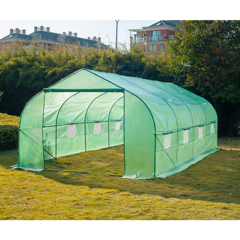 Greenhouse Tunnel Nursery with Ventilation Windows