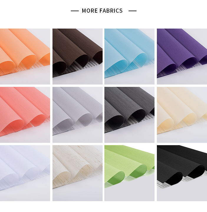Double Polyester Roller Shades Zebra Blinds Components