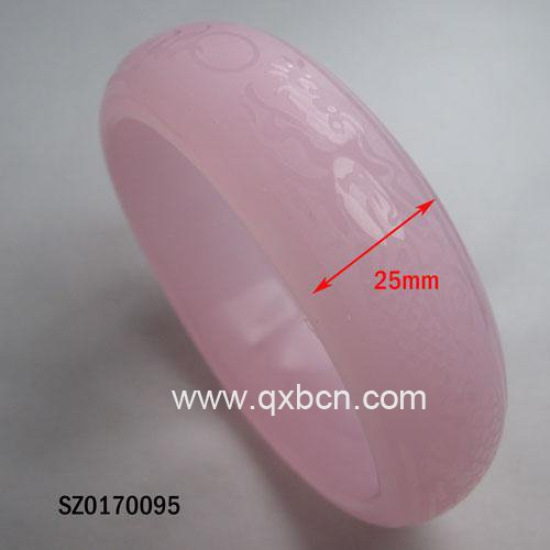 fashion big bangles natural rose quartz bangle
