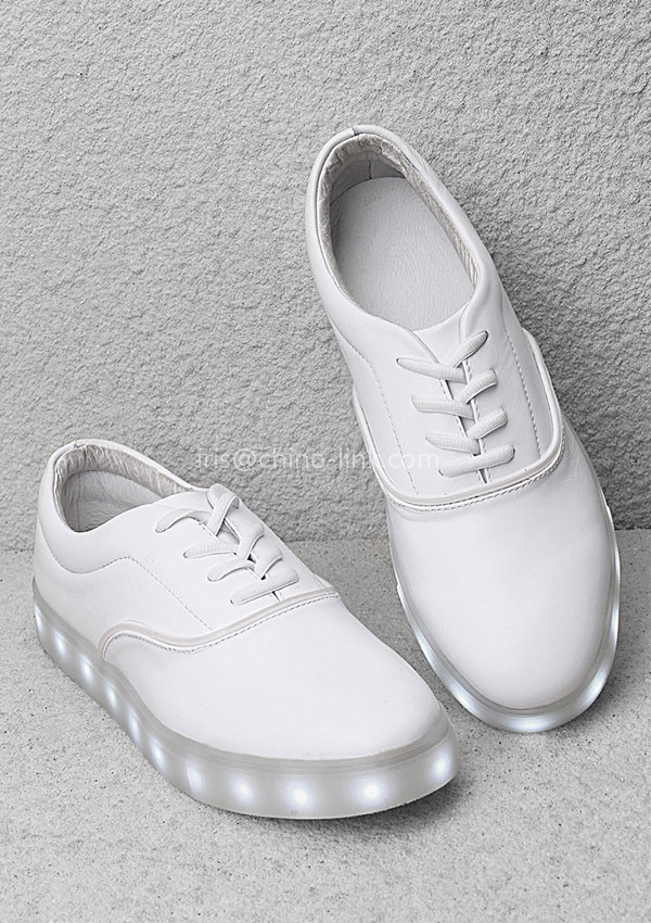 New model men and lady led light up white sneakers shoes casual shoe sole