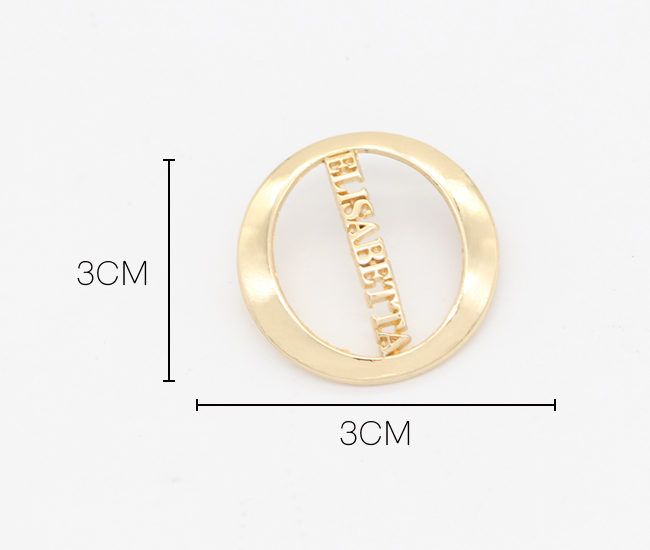 Custom bag making accessories round logos alloy made  hollow metal label plate with screw for handbag shoes