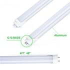 High lumens G13 tubes led 1200mm 18W 4ft T8 LED tube Light SMD2835 Milky white Cover 5000K
