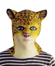 New Arrival Halloween cosplay fancy dress realistic animal latex monster deer head mask for kids party