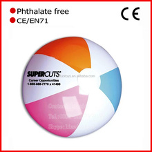 "Promotion High quality Low moq 18"" Custom gold beach ball"
