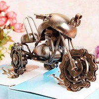 Metal crafts antique motorcycle model for home decoration