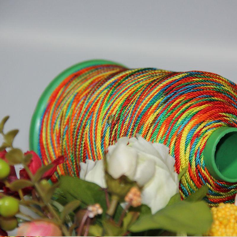 2013 Customize Rainbow Color Rayon Thread