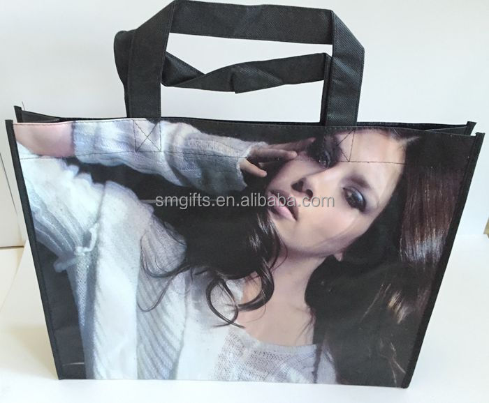 Top selling high quality nonwoven cloth bag, custom printed clothes' store using clothes bag