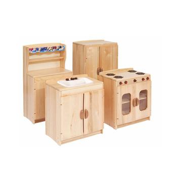Montessori Nursery School Furniture Kids Wooden Pretend Toys Children Kitchen Play Set