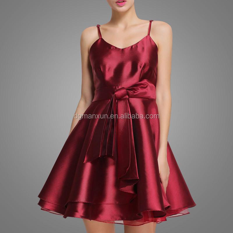 New Fashion Gadis Gaun Indah Gaun Pesta Ulang Tahun Remaja Merah