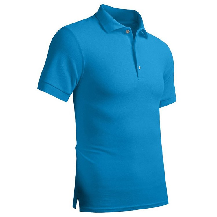 c722f2a5a Custom Men s Slim Fit Mesh Fabric Plain Short Sleeve Sport Golf Polo Shirt