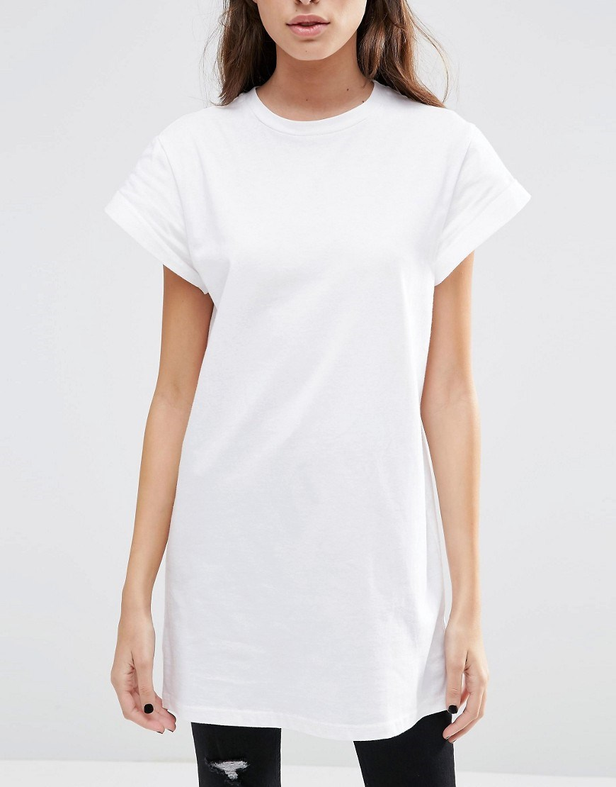women apparel extend long t-shirts oversized womens blank cotton white t-shirt dress made in china