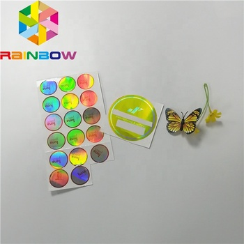 Hot Koop Custom Maken Label Holografische Stickers Adhesive Laser Hologram Sticker