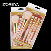 new patent gold oval zoreya professional makeup brushes