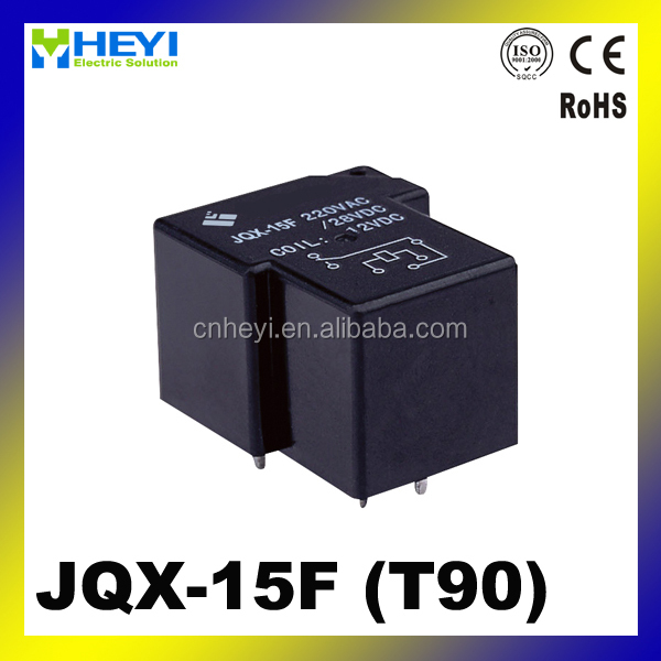 JQX-15F PCB power relay 40A 5pins miniature electromagnetic relay T90