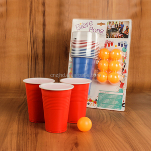 16oz beer pong party games plastic cup set