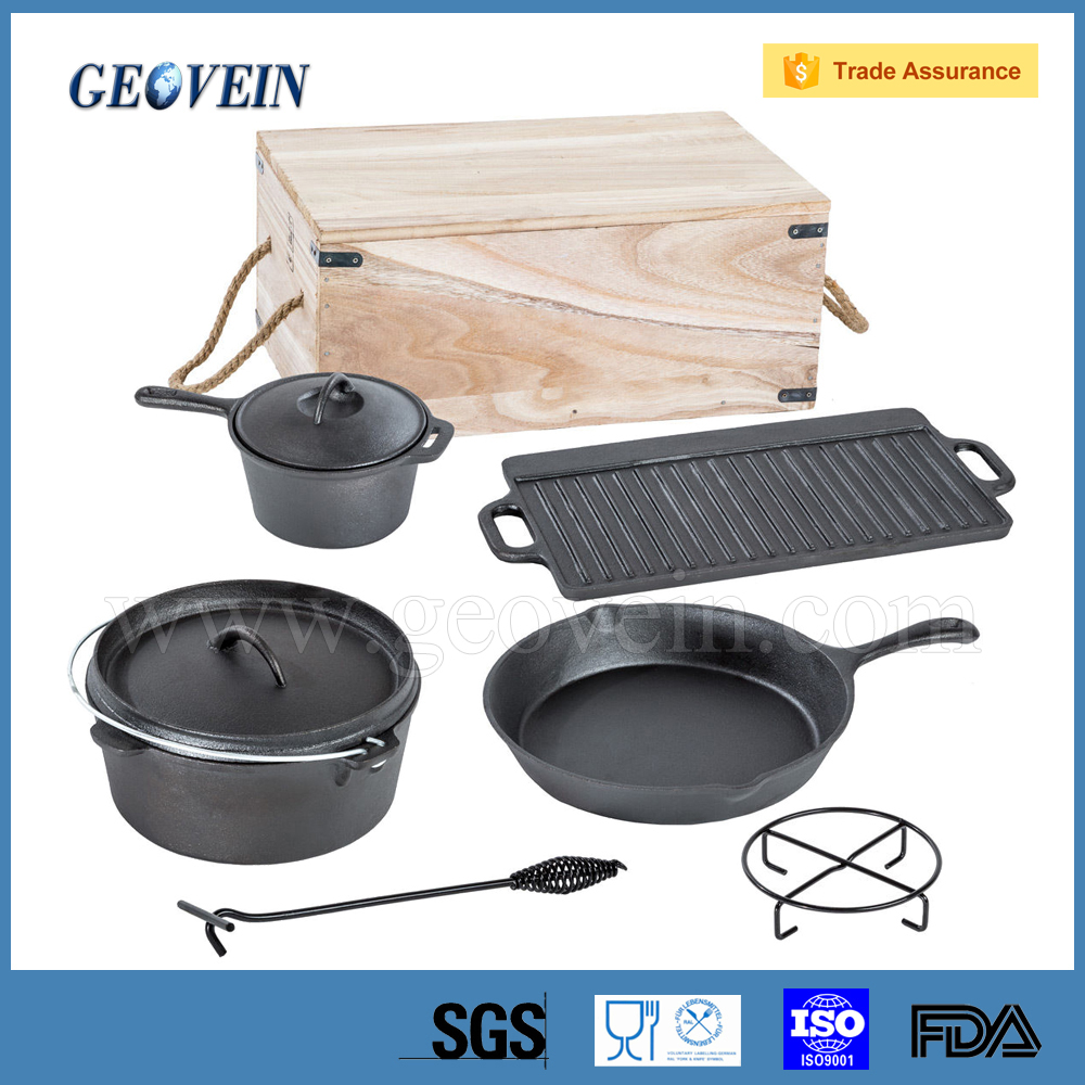 Cast Iron Dutch Oven/camping cookware/camping set factory in hebei