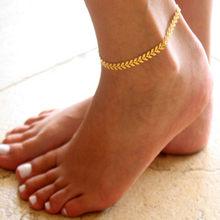 Женский браслет на ногу с подвеской-бабочкой, золотистого цвета с фианитом, цепочка для тенниса(Китай)