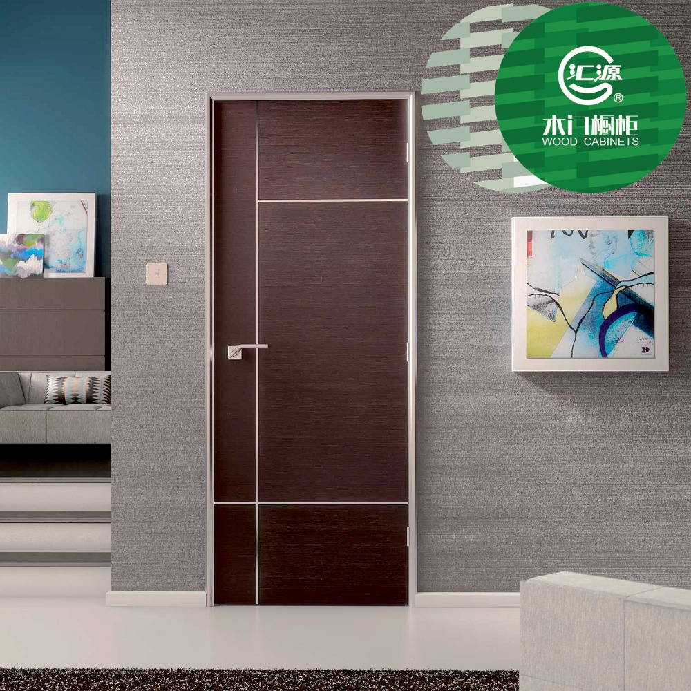 Non painted MDF door with PVC film China good quality MDF wood door finished by PVC from china manufacturer