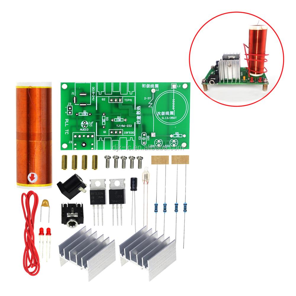 Mini Tesla Coil Kit 15w Music Plasma Speaker Dc Wiring Diagram Wireless Transmission 15 24v Diy Buy Kit15w15 Product On