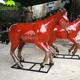KANOSAUR0402 Cheap Fiberglass Life Size Red Horse Statue In Stock