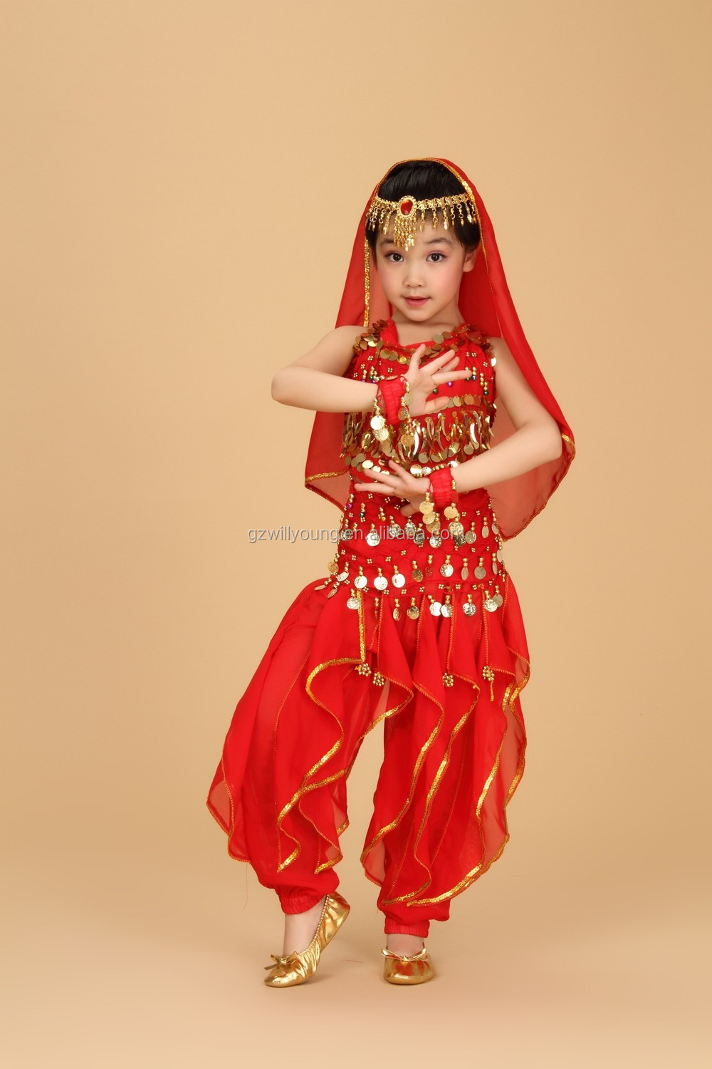 hot selling oriental style belly dance children costume