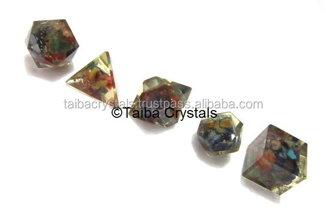 7 Chakra Orgone Geometry Set : Platonic Solid Sets Orgonite