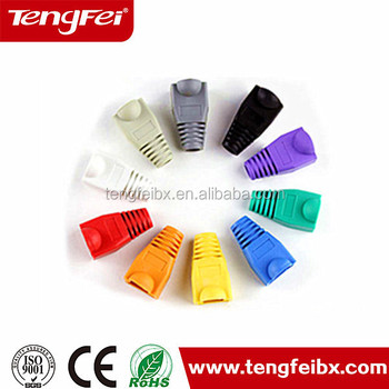 hot selling assemnbly cat5e cat6 cat7 rubber rj45 boots patch cord protector cap