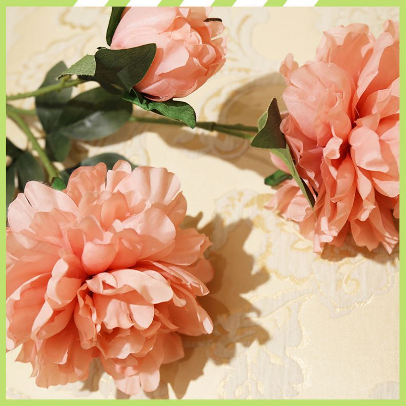 Hot sale most popular artificial peony silk flowers wholesale