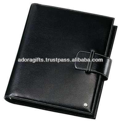 ADALP - 0091 weekly planner notepad / new design leather planner agenda book / up market embossed leather planner
