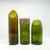 Recycled glass wine bottles cut bottle for candle holder vase
