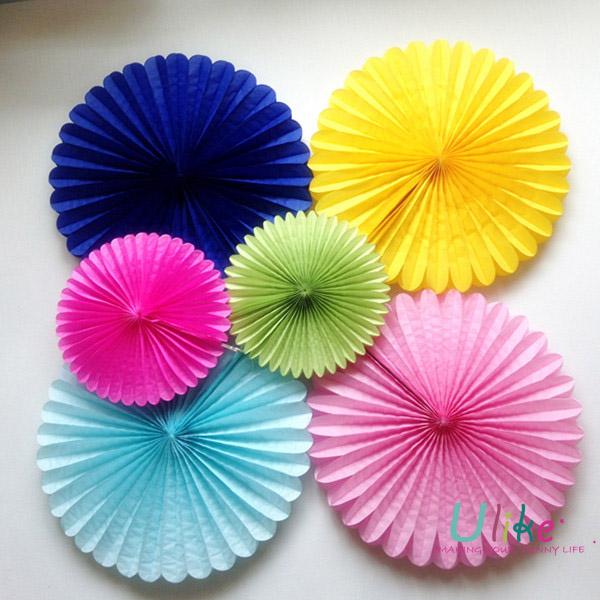 Beautiful Tissue Paper Fan Flower Design Hot Sellingnew Product