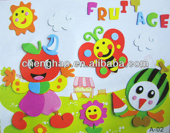 3d diy cartoon wall painting for kids eva draw - Cartoon Painting For Kids