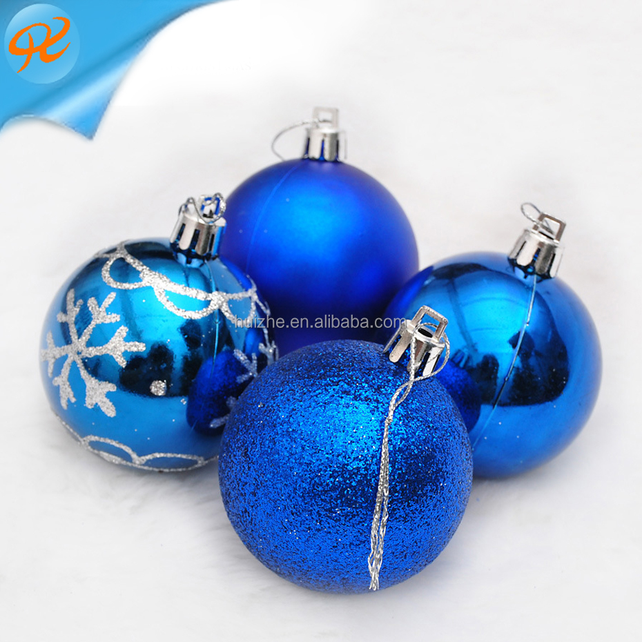 4 Pieces Gold Powder Light Christmas Cheaper Clear Plastic Xmas Decorative Ball