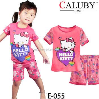 Wholesale Hello Kitty Pajamas And Pants Sleepwear Sets Kids ...