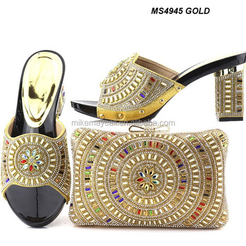 Fashion Style Matching Shoes And Bags Italy Women Shoe Bag To Match For Wedding African