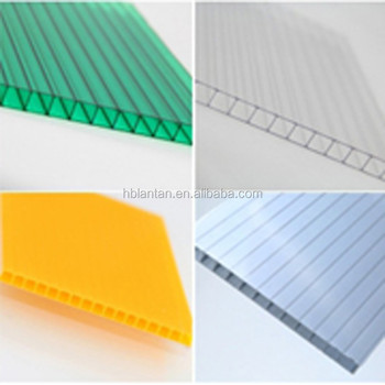 Top Quality Polycarbonate hollow sheet supplier with UV Protection