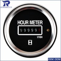 52mm boat instrument 6v to 50v marine hour meter gauges