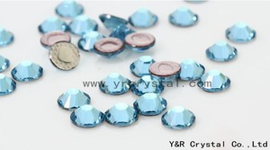 2058HF Free shipping aquamarine Color ss6 1.9-2.0mm hot sales and best quality HotFix glitters iron on garment clothing crystal