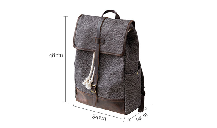 OEM supplied retro men travel durable rucksack backpack canvas bagpack